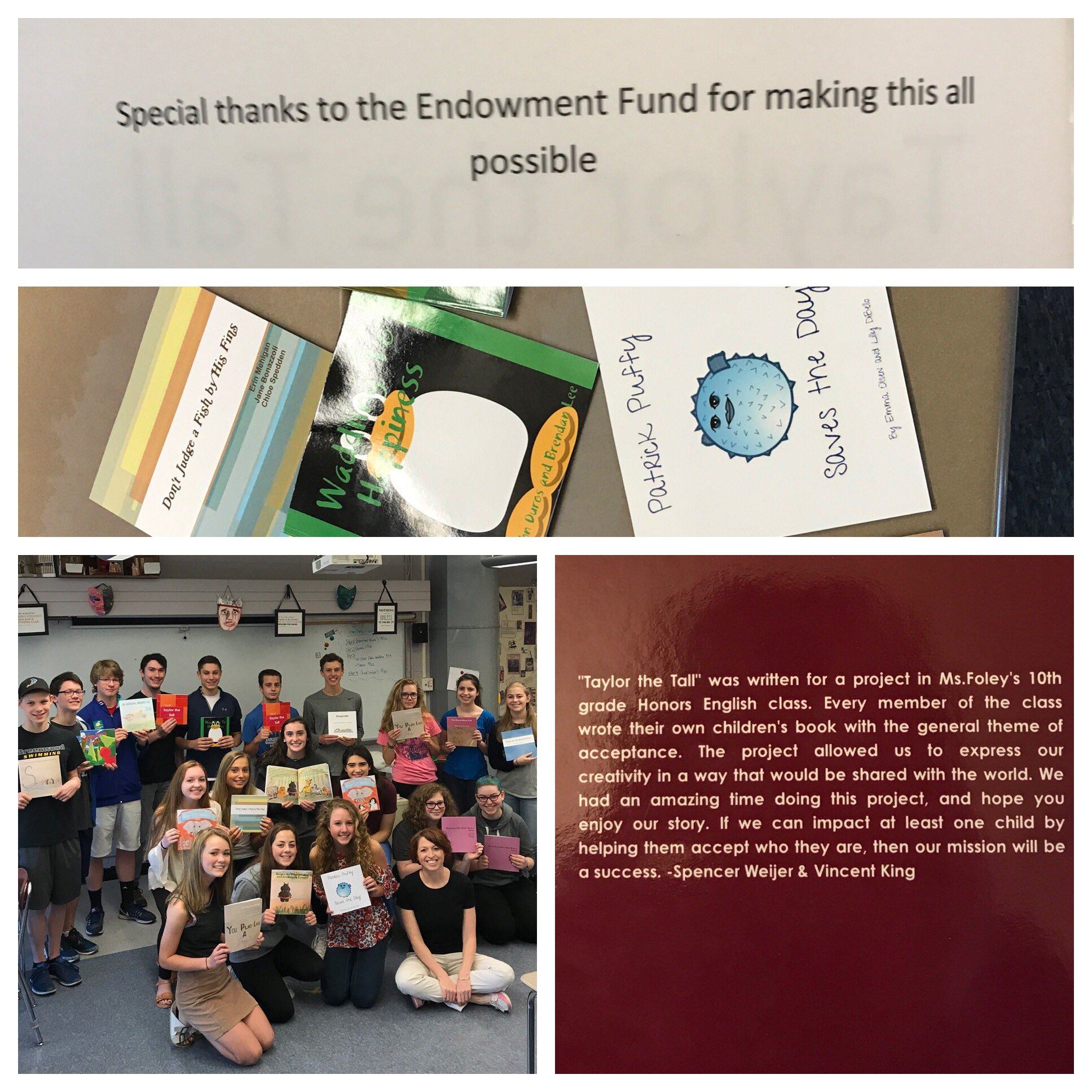 Nashoba Endowment Fund paid to publish children's books! Thank you so awesome! @FoleyProcko @ClintonItem @Chieftain_Chat https://t.co/vFNBpCYiqC
