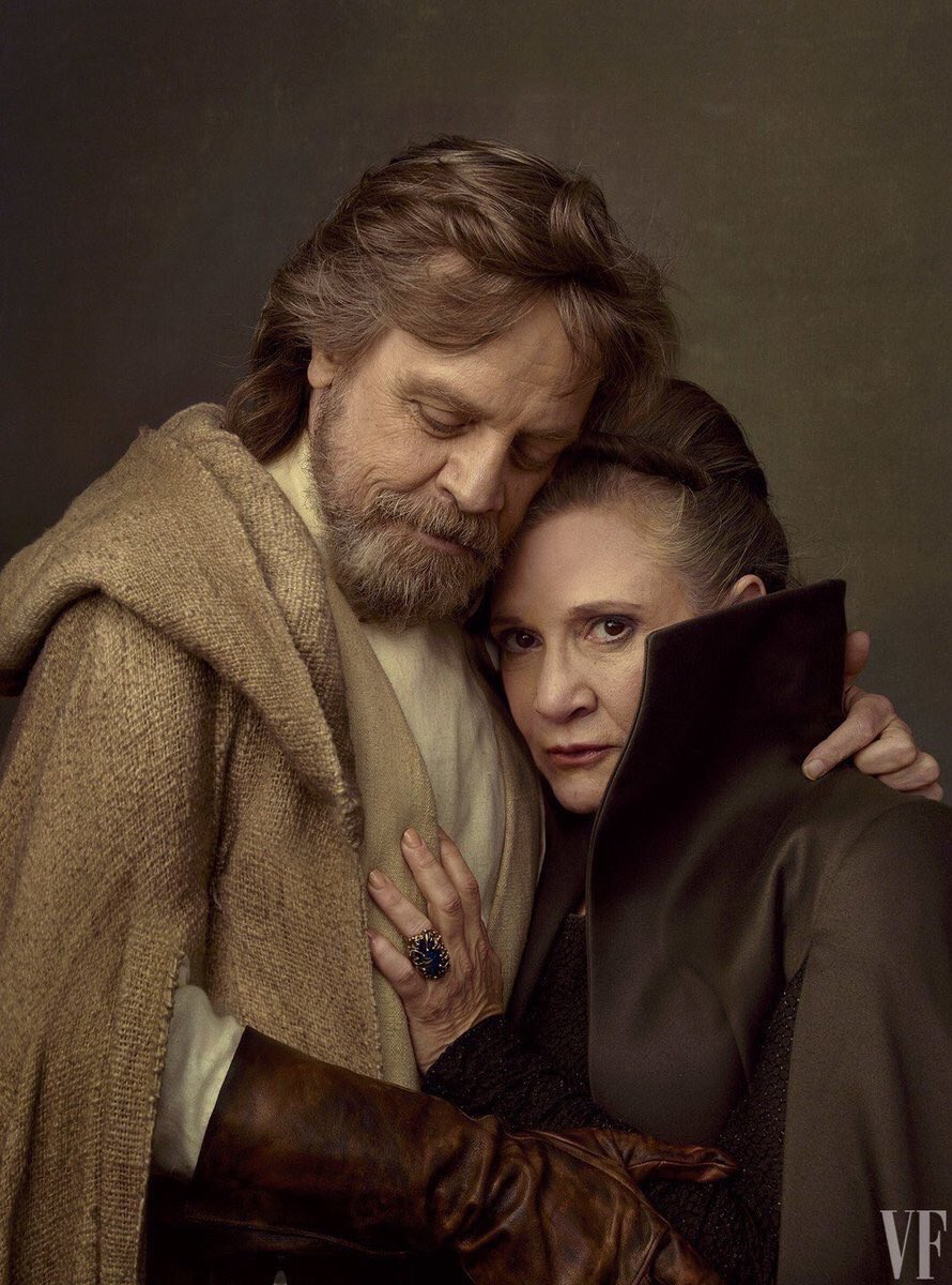 Photos of @carrieffisher with daughter Billie and @HamillHimself from the Vanity Fair shoot.  Such beauty...  #starwars <br>http://pic.twitter.com/RmWl73j8TX
