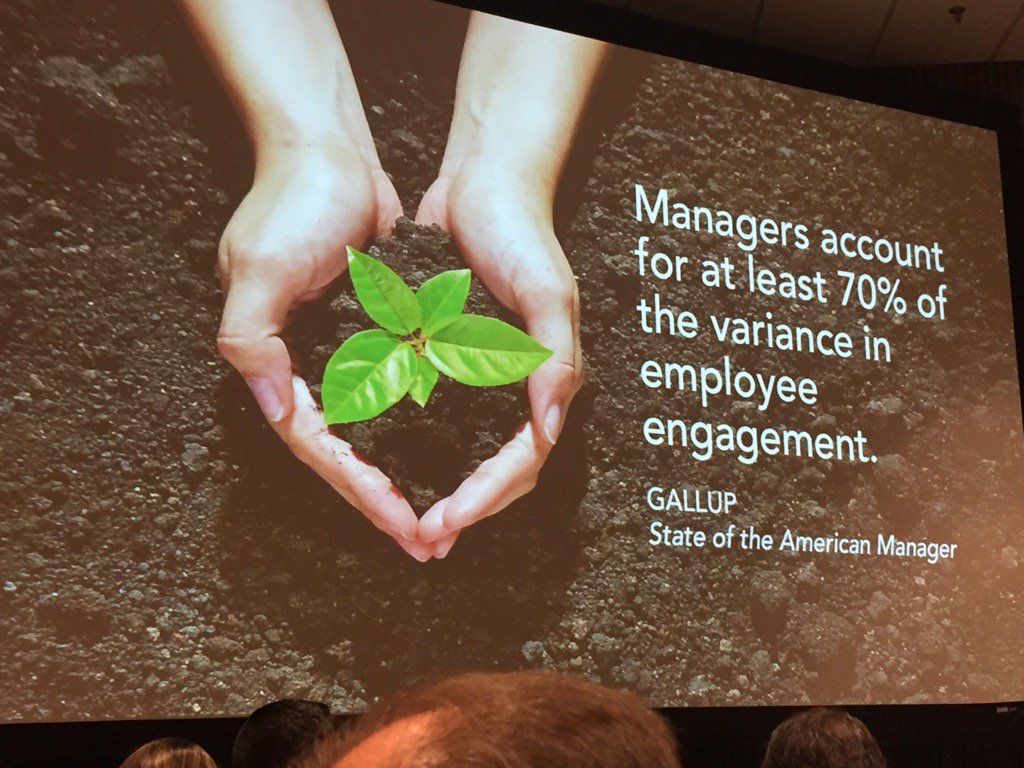 Interesting statistic about employee engagement #atd2017