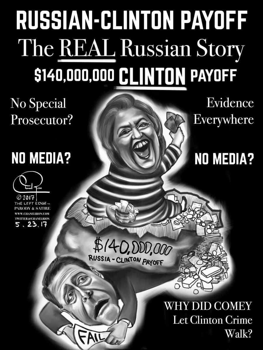 The real #Russian Story; #Clinton crime.  #Comeygate #RussiaGate #TrumpRussiaInvestigation #ClintonUranium<br>http://pic.twitter.com/8P3CEByDxk