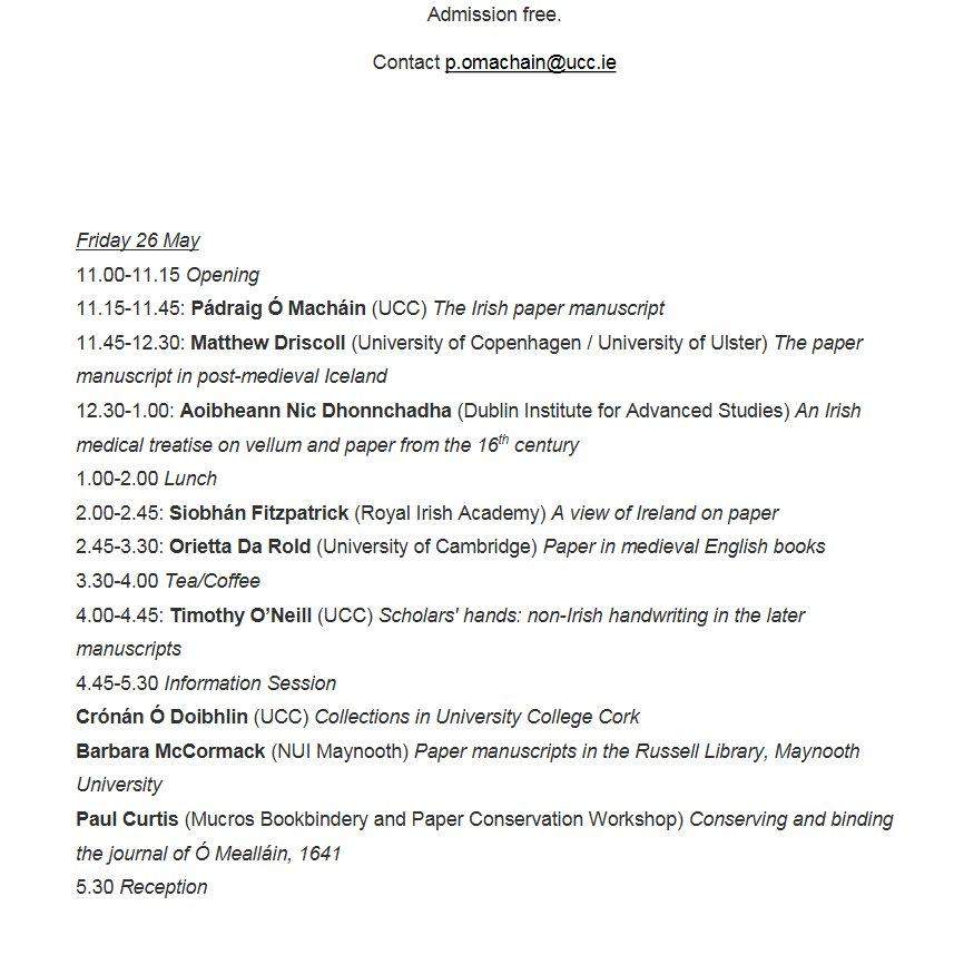 test Twitter Media - Aoibheann Nic Dhonnchadha (@DIAS_Dublin) will speak at The Paper Manuscript, A colloquium of UCC Dept of Mod Irish @UCCLibrary 26-27th May https://t.co/eUf6BDH4HA