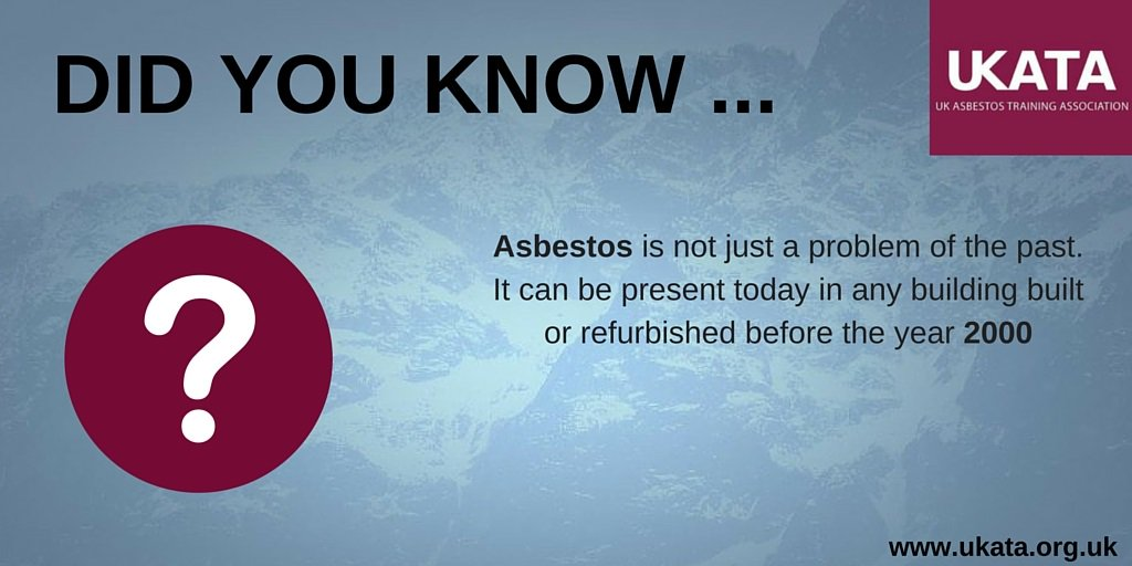 #Asbestos is not just a problem of the past. It can be present today in any building built or #refurbished before...  http:// ow.ly/1wtK30bW8xQ  &nbsp;  <br>http://pic.twitter.com/NOBRJvxqDr