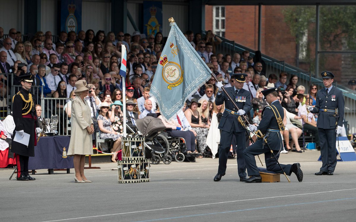 The Duchess of Cornwall, Honorary Air Commodore of RAF Halton, attended a Graduation Parade today at their base in Aylesbury.
