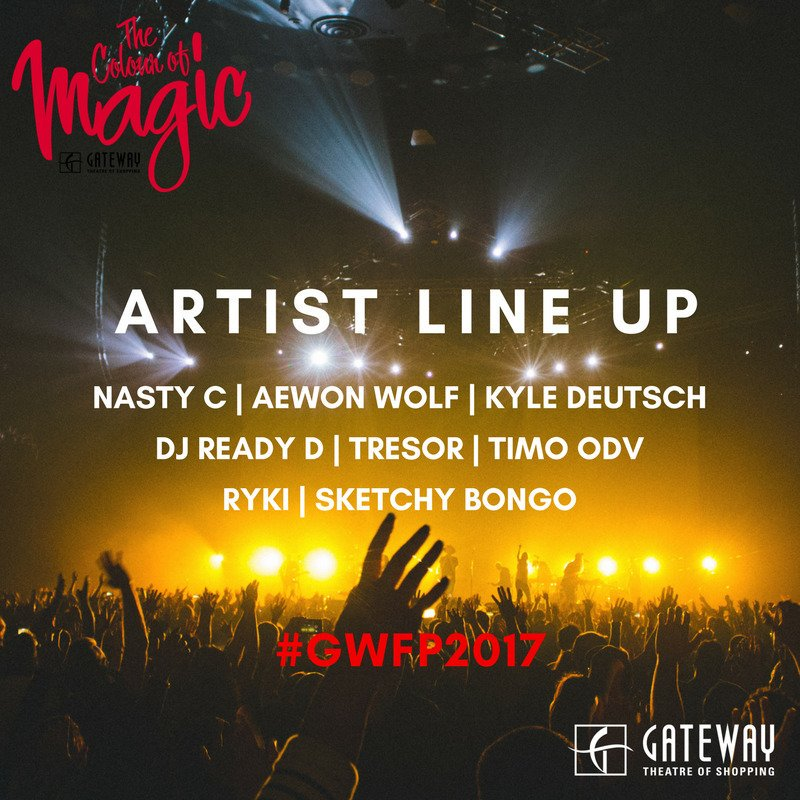 A bumper concert line up on 24 June! #GWFP2017