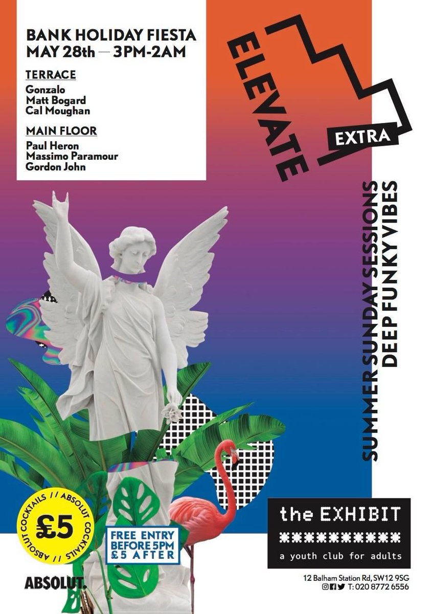 Sunday fiesta down at @theexhibit with @massimoparamour Gonzalo @GordonJohn37 @CalMoughan and @DjPaulHeron  #elevate #bankholiday <br>http://pic.twitter.com/maCGrg9UJt