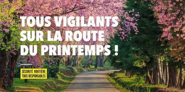 [#SécuritéRoutière] Pour une #routeplussûre en ce long weekend de mai, soyons #tousresponsables 🚗🏍