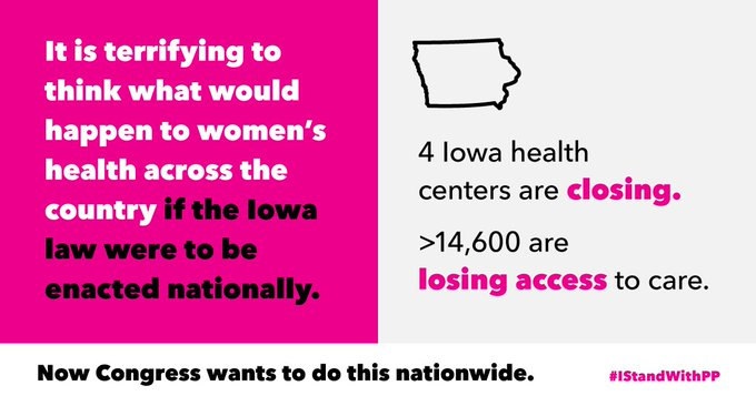 Here's the future that extremists want for Planned Parenthood patients: Closed health centers & lost access to care: https://t.co/UYDE5OifWe