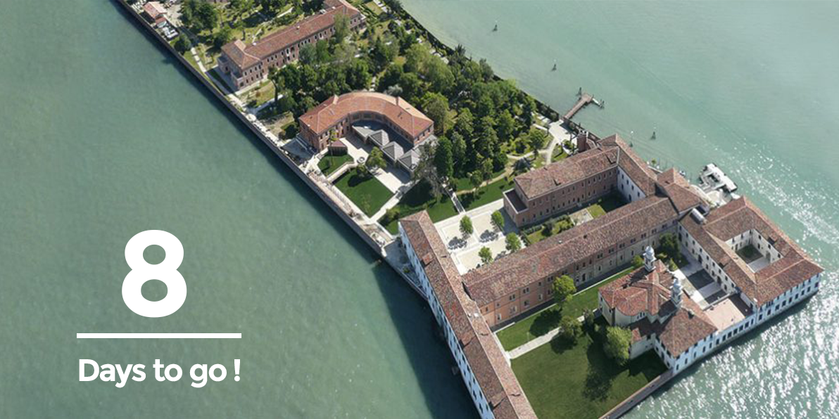 8 Days to go! Spend 2days in our jaw-dropping #LOCATION, a relaxed atmosphere in the gardens of #SanServolo island #Venice #ImArch #VR #AR<br>http://pic.twitter.com/surGVmuQ0k