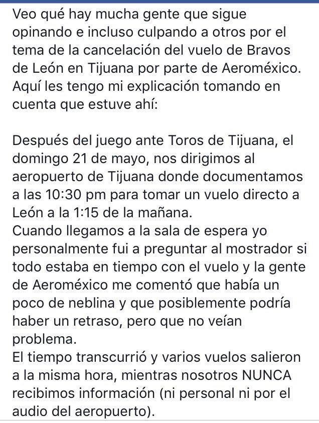 Mi versión sobre el vuelo cancelado a @NacimosBravos y la manera abusiva con la que @Aeromexico manejó la situación https://t.co/FkeaA7qDDo