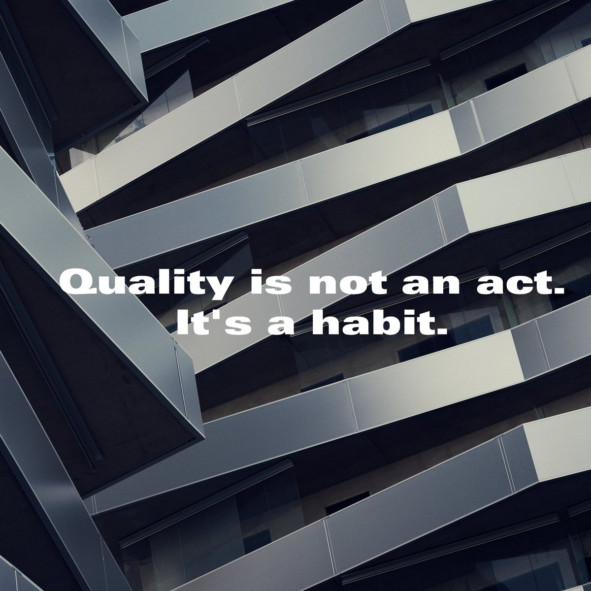 "Quality is not act. It is a habit."" https://t.co/xYGltHtNGN"