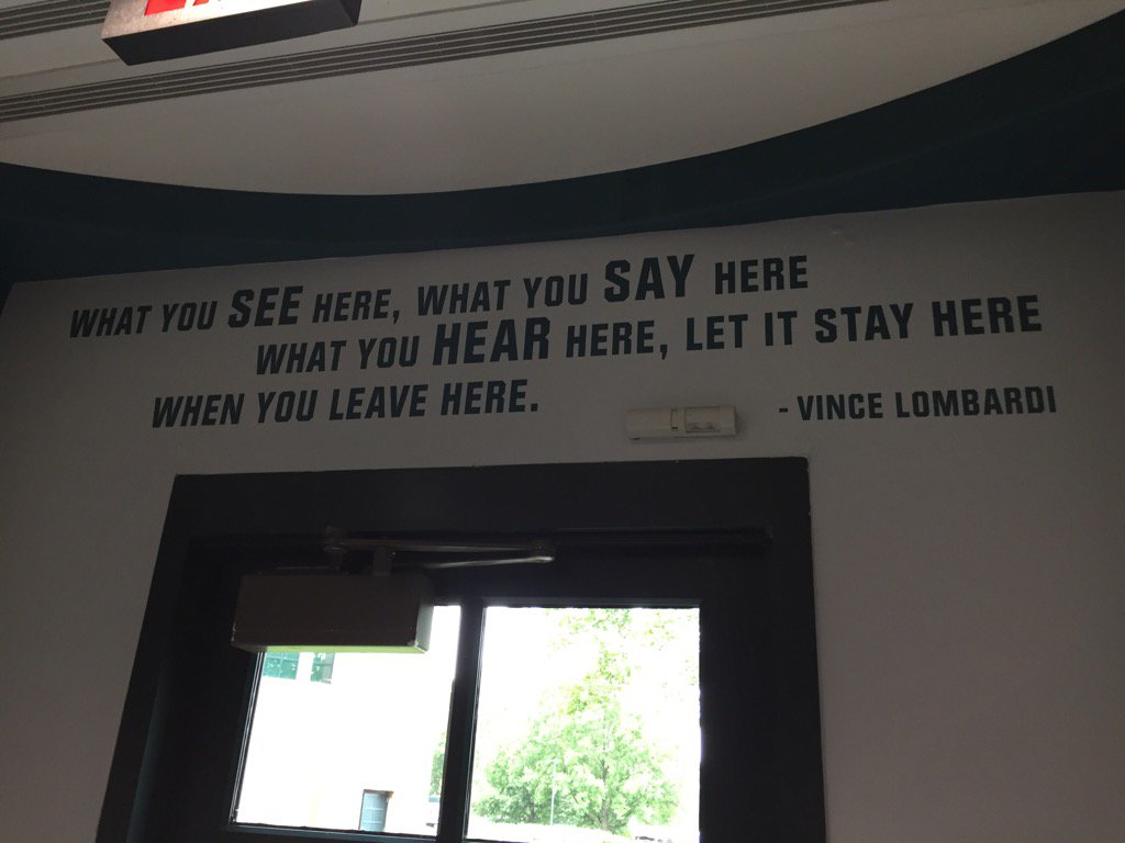 #Eagles have this above the player exit to the practice facility. Doug clearly not a fan of snitches. # <br>http://pic.twitter.com/VSRPlqmUdj