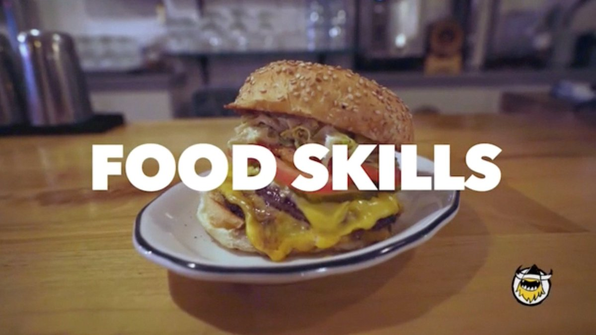 🚨NEW FOOD SKILLS ALERT🚨 This gourmet double cheeseburger tastes like a Big Mac on steroids.