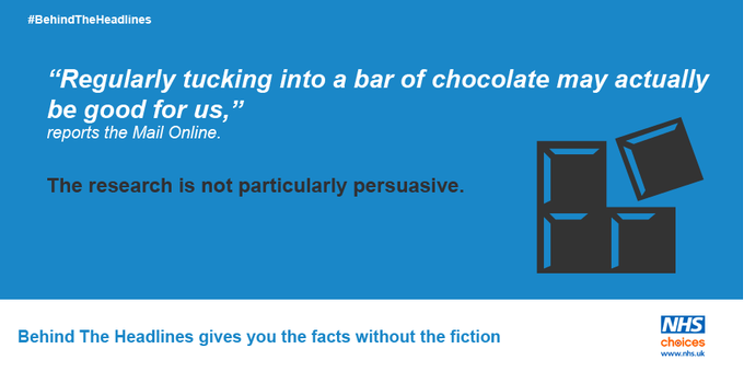 'Chocolate good for the heart' claims sadly too good to be true: https://t.co/NFZoSZEIAa #BehindTheHeadlines