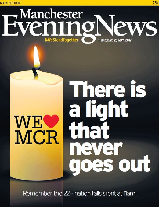 MANCHESTER EVENING NEWS FRONT PAGE: 'There is a light that never goes out' #skypapers