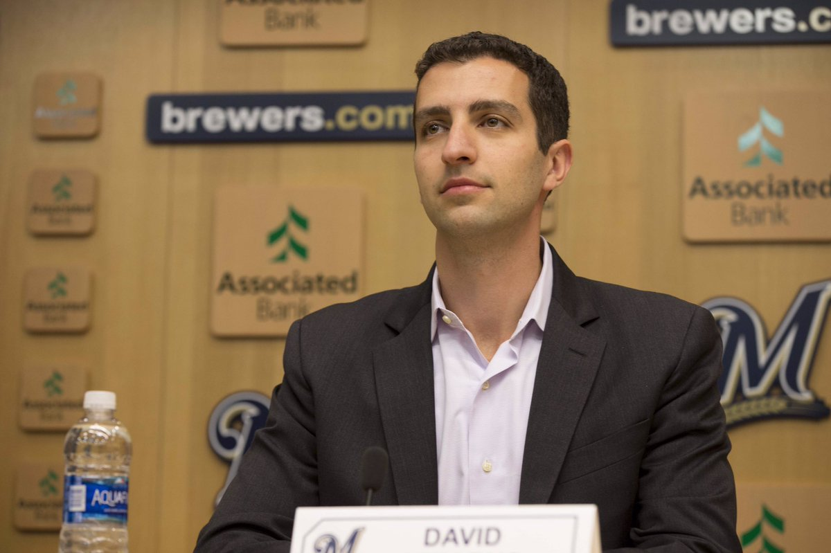 Image result for david stearns brewers gif
