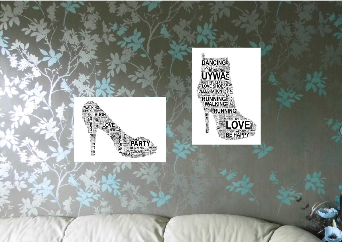 #Shoe/Boot #PersonalisedWordArt Print. FREE UK  http:// etsy.me/2qTFPp9  &nbsp;   #QueenOf #UKHashtags #TweetUK<br>http://pic.twitter.com/inRh2Fd90T