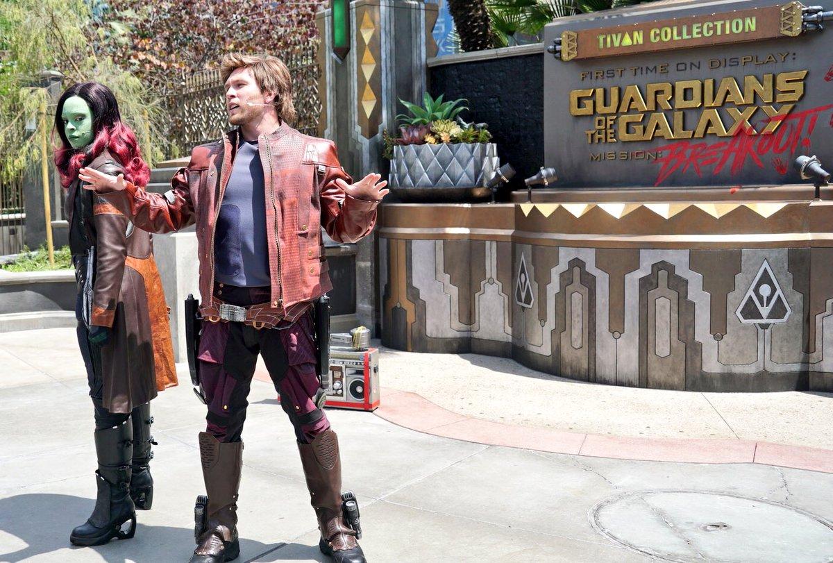 Disneyland's Avengers Campus Gamora and Star Lord