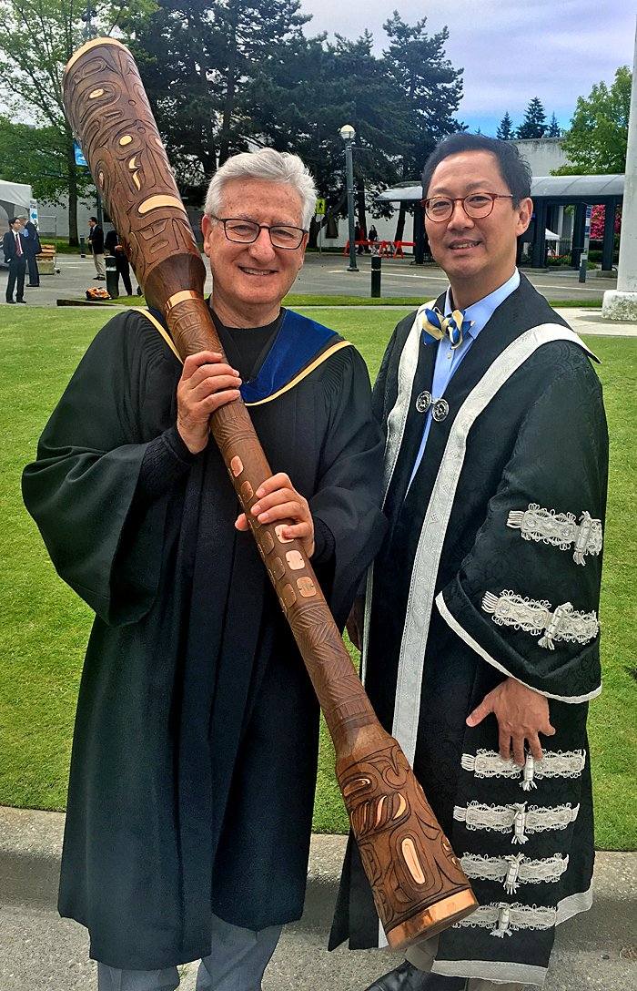 Honoured to be Macebearer today for @ubcprez and #UBCGrad of @UBCmedicine's great Class of 2017 Congrats and best wishes to all #UBCFOM2017 https://t.co/0AVERr0tiu