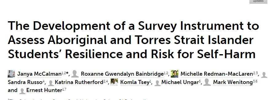 Excited to co-publish article #NHMRC #Resilience Study: #PAR for #Survey development #Indigenous #boardingschool  http:// journal.frontiersin.org/article/10.338 9/feduc.2017.00019/full &nbsp; … <br>http://pic.twitter.com/mMENnf6iI3