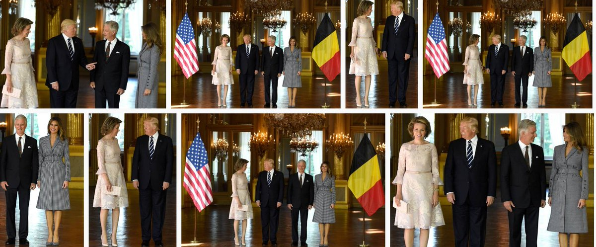More photos from @FLOTUS visit with  Queen #Mathilde and King #Philippe of #Belgium.<br>http://pic.twitter.com/xzS8i7AQoV