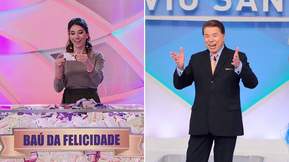 Rebeca Abravanel sorteia Silvio dos Santos no Caldeirão da Sorte. Veja https://t.co/qv95MNOQSa