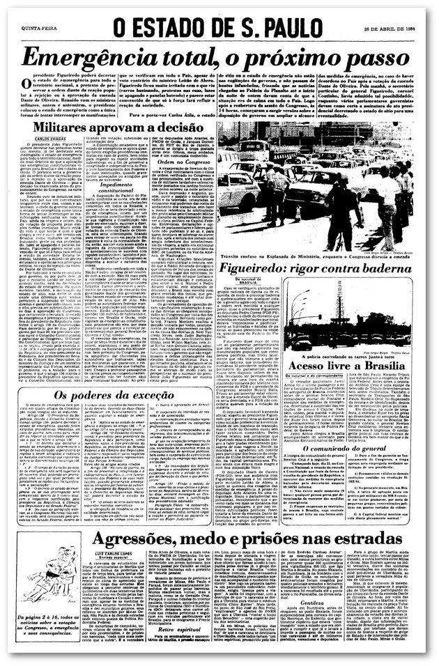 >@EstadaoAcervo Exército ocupou Brasília após rejeição de 'Diretas Já' https://t.co/uTs64WoCM0