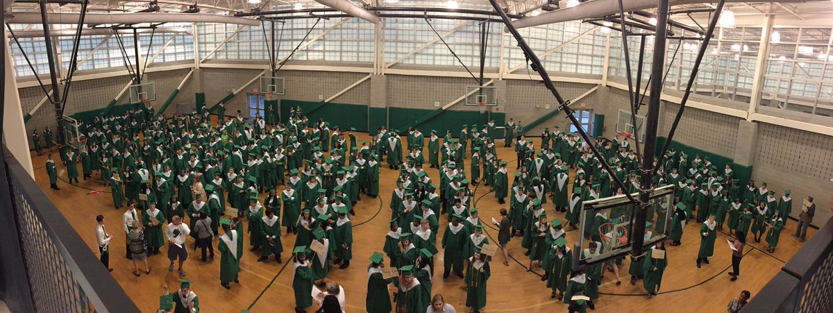 Congrats Cary High School Class of &#39;17 The 1st step toward  Graduation; Senior Night #CaryPride #CaryProud #Green&amp;White #GoImps<br>http://pic.twitter.com/43QrObSriw