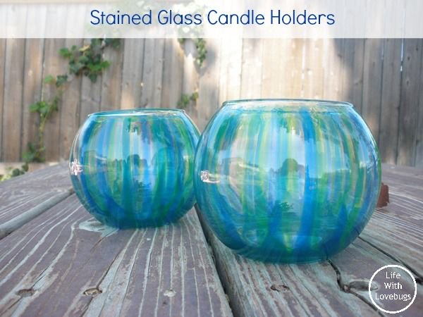 How To Make Stained Glass Candle Holders