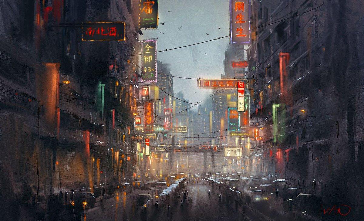 More beautifully evocative #urban #landscape #art by Ivan 小红花  http:// buff.ly/2r8Q1i4  &nbsp;  <br>http://pic.twitter.com/uWqrGdbNEW