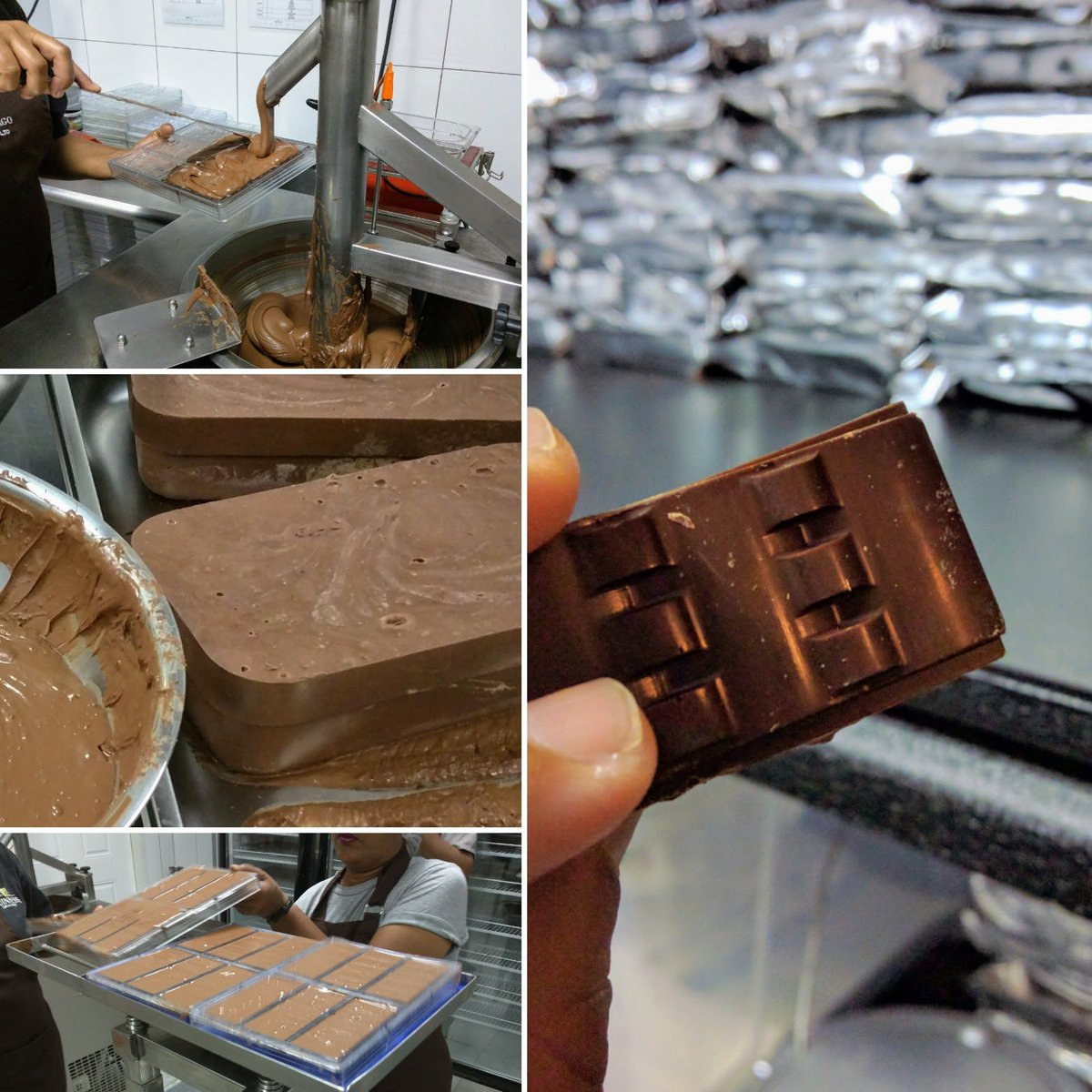 There&#39;s only one thing better than eating fine #chocolate and that&#39;s watching it being made! Oh, what a #happyday! <br>http://pic.twitter.com/WU5hOvFySj