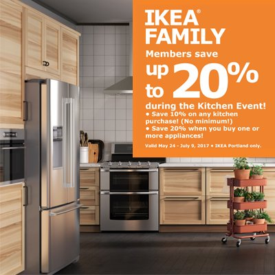 IKEA FAMILY Kitchen Event On Now! Find Out How You Can Save Up To 20% On A  New Kitchen: Http://bit.ly/2m7oS9L Offer Exclusive To Portland!pic.twitter.com/  ...