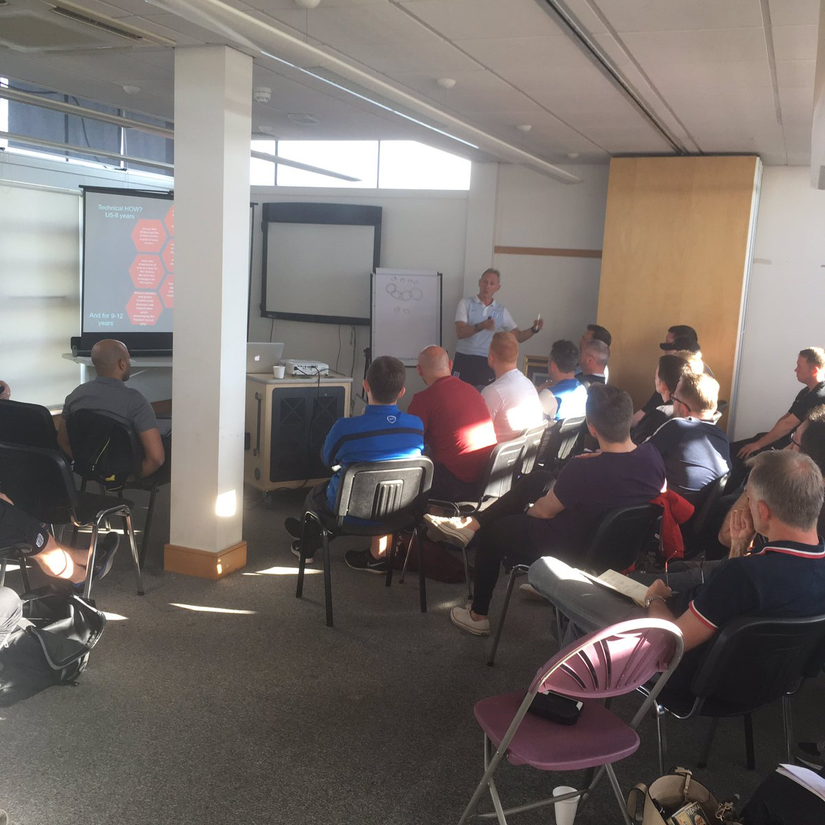 | @sturge_p delivering the #England #DNA to coaches tonight at #DurhamFA #FALCC Event <br>http://pic.twitter.com/fMQJA1WGhS