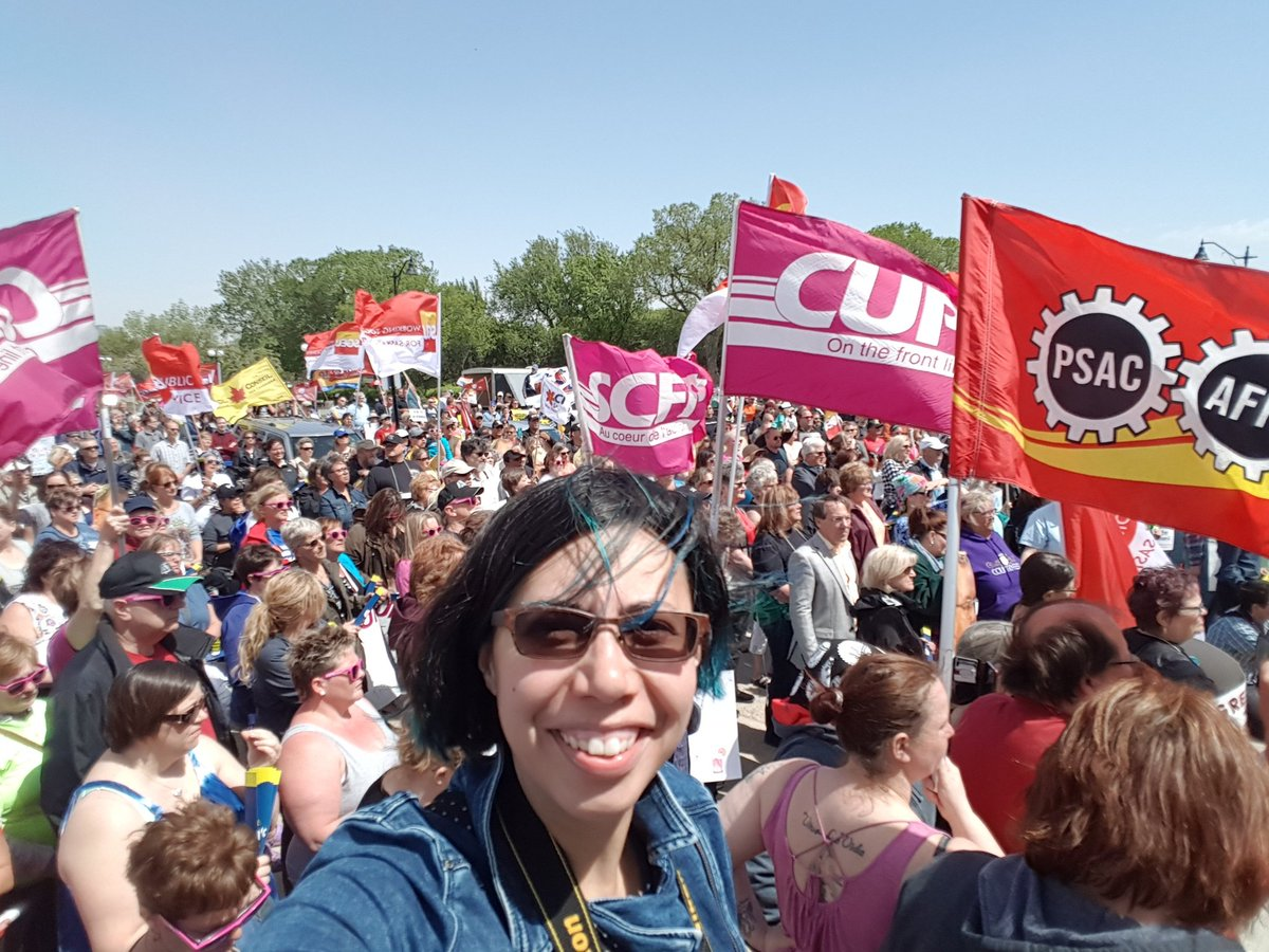 Great to see so many people standing together against the Sask Party cuts. #skpoli @CUPEsask #selfie <br>http://pic.twitter.com/fknq3k42a5