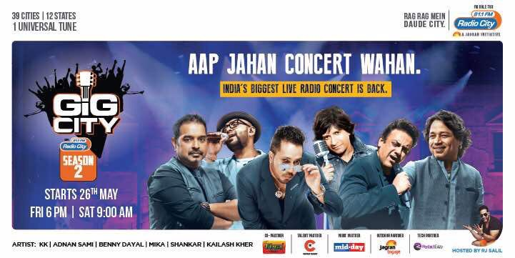 Aapka har #pal banega magical @K_K_Pal  ke sath !! #india &#39;s biggest #radio  concert is #back , tune into @radiocityindia this #Friday!! <br>http://pic.twitter.com/7xrgY0M28X