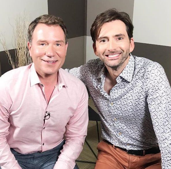 David Tennant with Good Morning presenter Richard Arnold