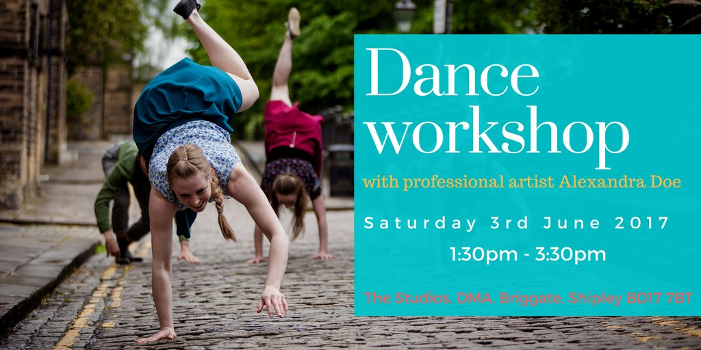 Contemporary #dance workshop in #Bradford suitable for ages 14+, led by professional artist @alexandradoe89  1:30pm, Sat 3rd June 2017<br>http://pic.twitter.com/TlTDVlvTOa