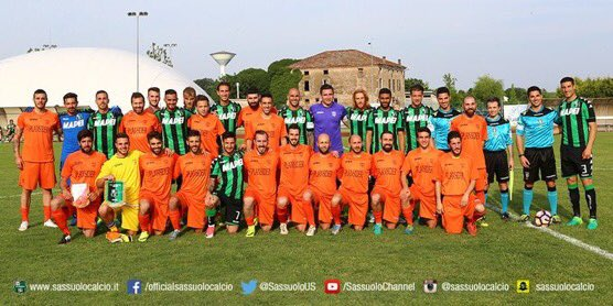 Today #Sassuolo participated in a friendly game in order to raise money for smaller clubs that have faced natural disasters <br>http://pic.twitter.com/wPqrOZMwqF