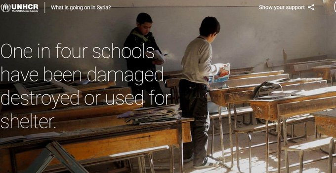 Powerful multimedia feature showing what Syria was and what it has become, by UN Refugee Agency and Google. https://t.co/rmWAHjSRZn