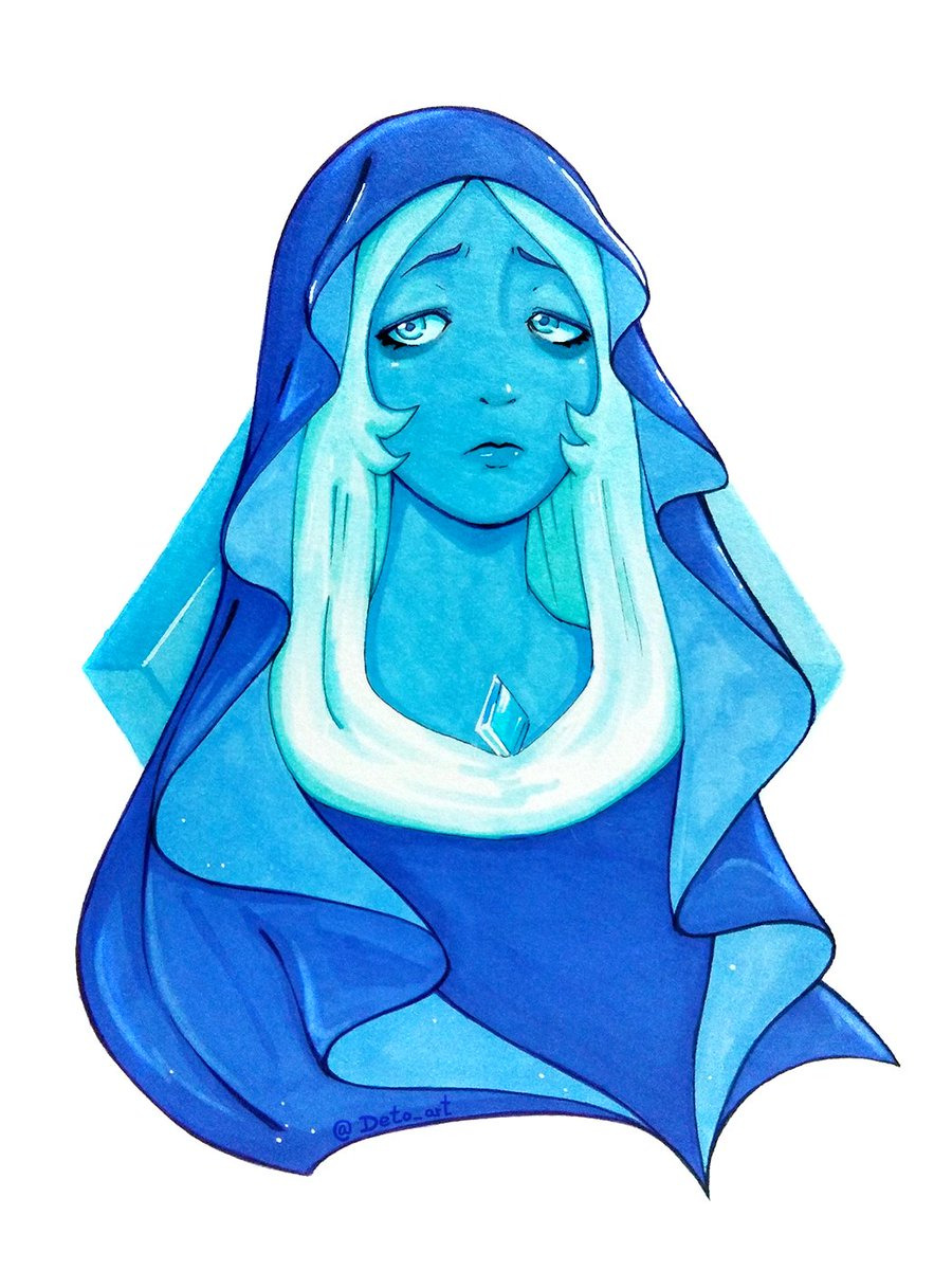Fanart: Blue Diamond   Tools: Markers (promarker, ecoline, copic light blue) &amp; white gel pen #StevenUniverse #SU #fanart<br>http://pic.twitter.com/knr8hvVs7K