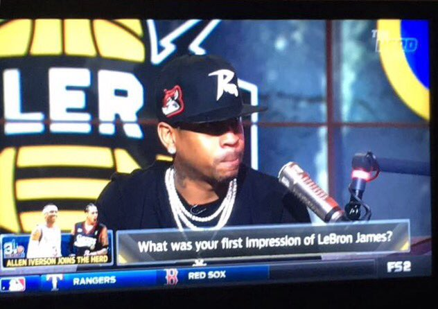 .@alleniverson rocking a Squirrels cap on @TheHerd. Thanks for your support! #GoSquirrels https://t.co/kPlrDNxOUS