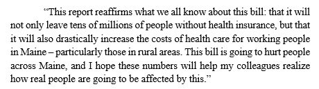 RT @SenAngusKing: Please see my statement on the @USCBO score on the #AHCA: https://t.co/06BEOMSL0A