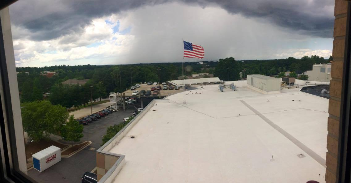 Great pic from Lauren Gossett of this rain shaft as storms moved through Cobb Co earlier. #11Alive