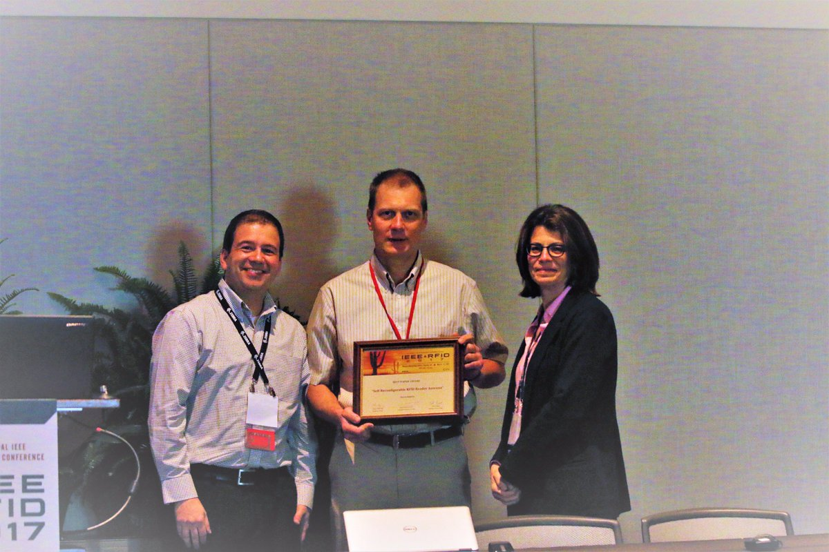 Congratulations to this year&#39;s recipient of the &quot;Best Paper&quot; award  @IEEECRFID #RFIDLive  <br>http://pic.twitter.com/AeE4SzXnqc