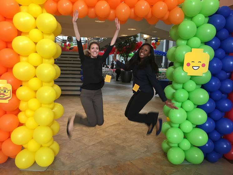 Our Healthcare colleagues, (l-r) @SteviErin &amp; @SimplySym, at #Stryker's (*cl) lego-themed Take Our Kids to Work Day! <br>http://pic.twitter.com/Cn4N03lD1t