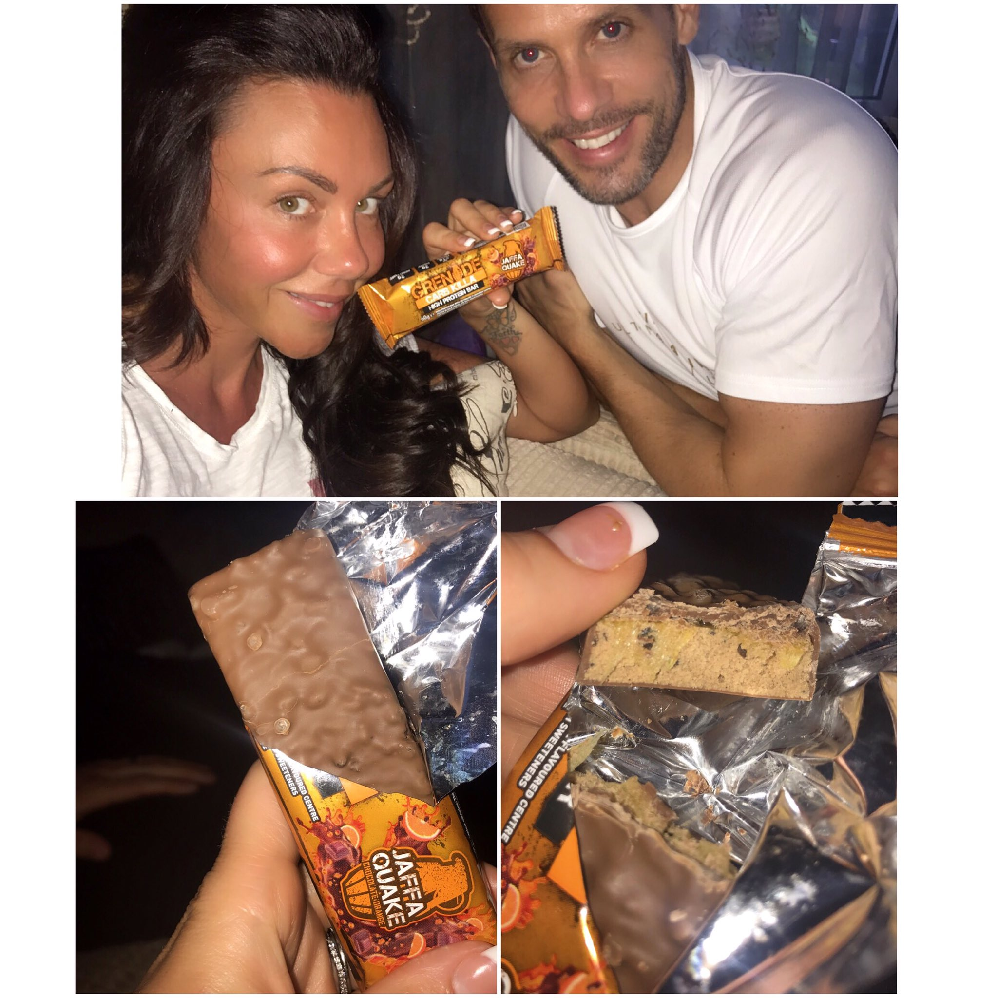 Taste testing the new #jaffaquake bar by @ThermoGrenade ... and the verdict is #awesome https://t.co/61xKBzprUZ