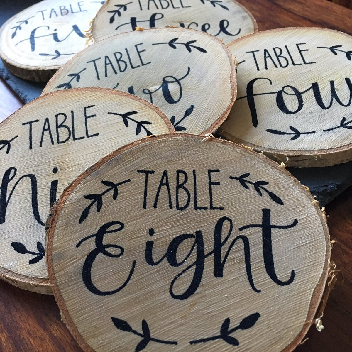 Hi #weddinghour been painting lots of #wood #tablenumbers for orders this week!  https://www. etsy.com/uk/listing/524 482055/rustic-wood-table-numbers &nbsp; …  #bride #weddingdecor #tabledecor<br>http://pic.twitter.com/zN0qk49knV