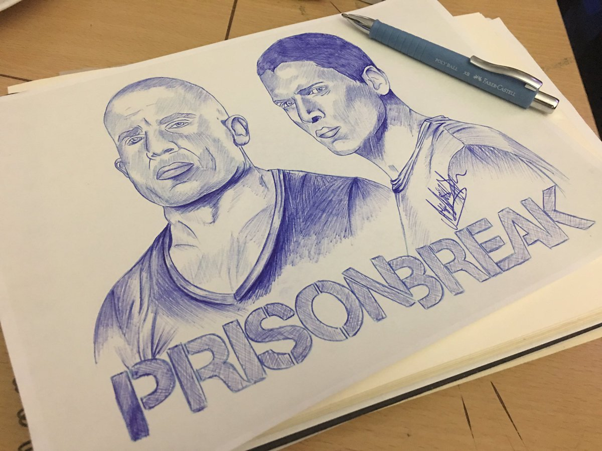 Full sketch of @PrisonBreak (Not finished) #PrisonBreak  #LincolnBurrows #DominicPurcell #MichaelScofield #WentworthMiller #draw #drawing <br>http://pic.twitter.com/8WhTgFq3JD