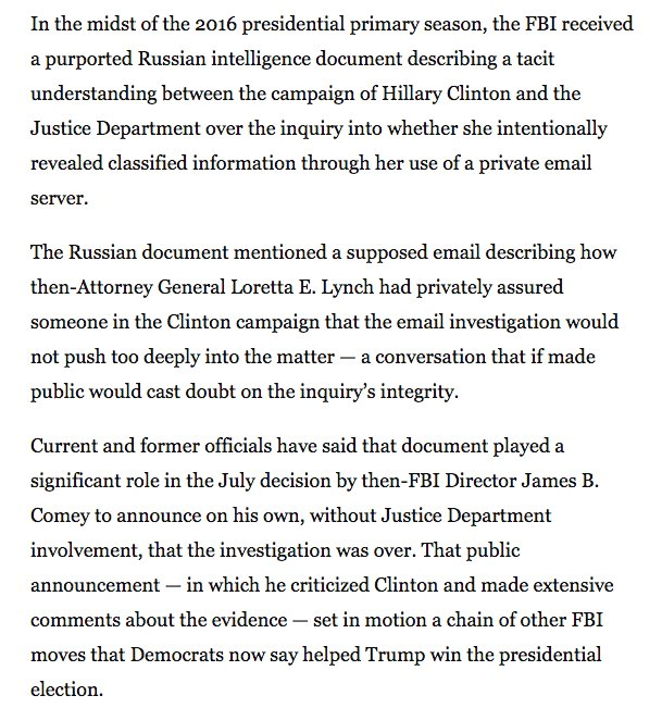 Sure seems like the FBI got played by Russian counterintel that played into the FBI's biases https://t.co/B8IRXuizvO