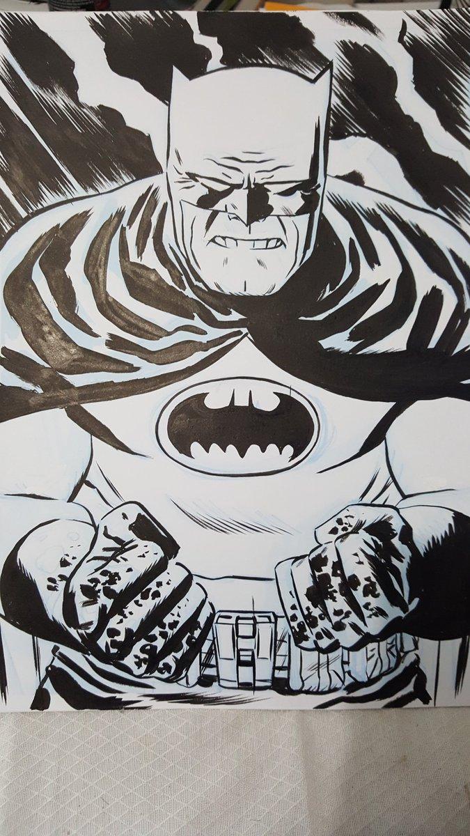 Dark Knight returns #sketch #batman #inked #art<br>http://pic.twitter.com/8PWkv5rIfw