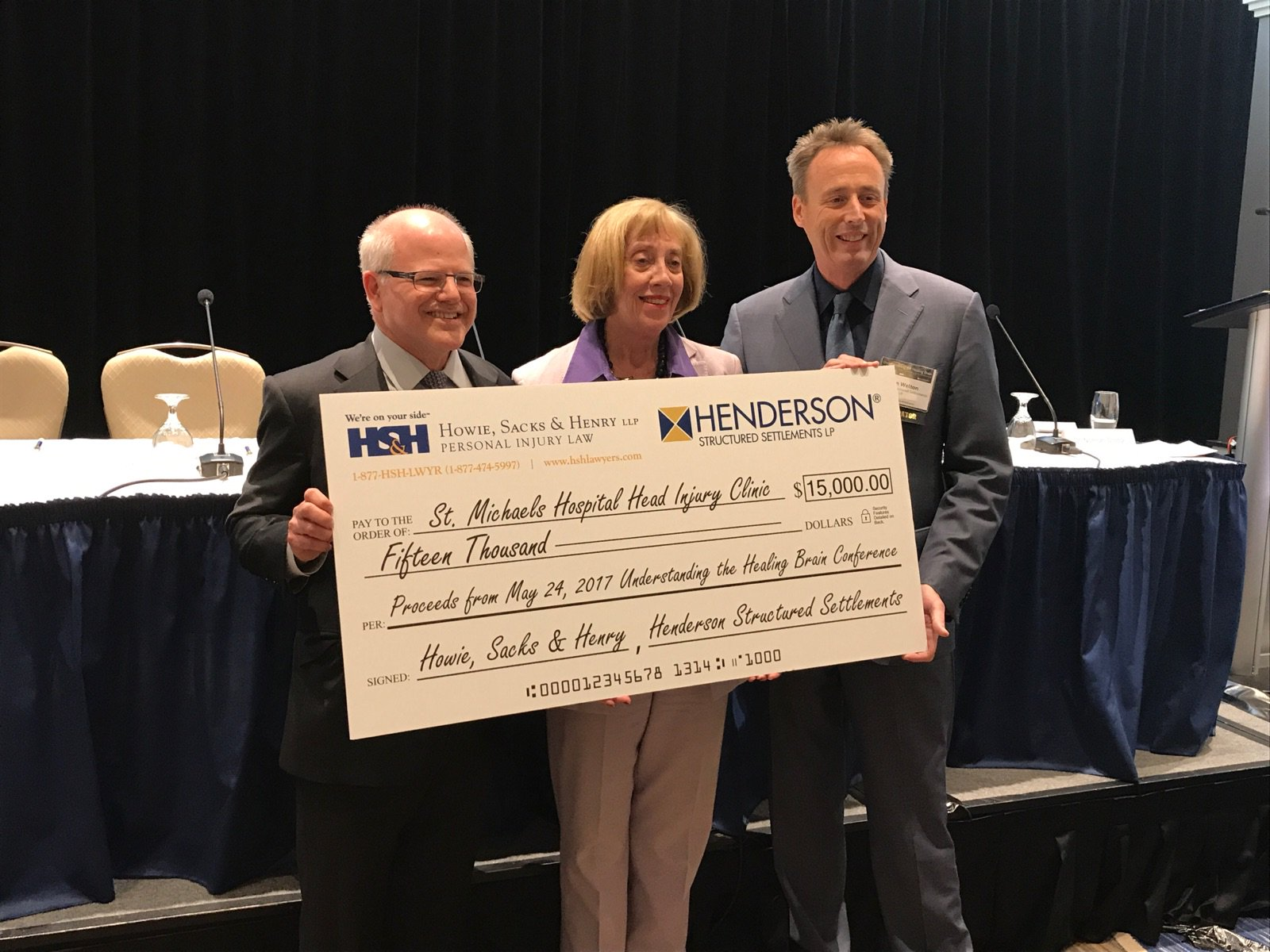 #HealingTheBrain Conference Raises $15,000 for St. Michael's Hospital Head Injury Clinic #HSHEvents https://t.co/n01l15pHlj